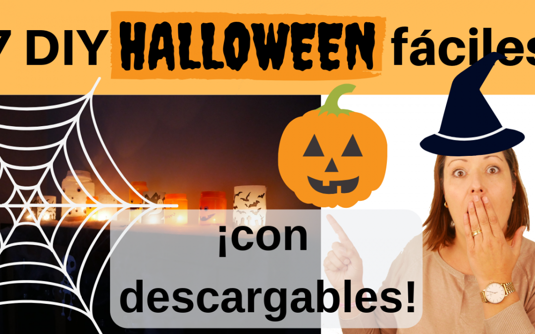 Decoraciones para halloween fáciles con plantillas descargables