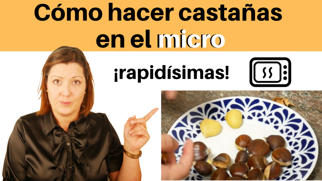 Cómo hacer castañas en el microondas