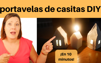 Portavelas de casitas 🏠🏡🏘🏚 DIY Con descargables!