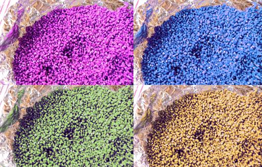 Cómo teñir arroz de colores con papel crepe – DIY para bodas