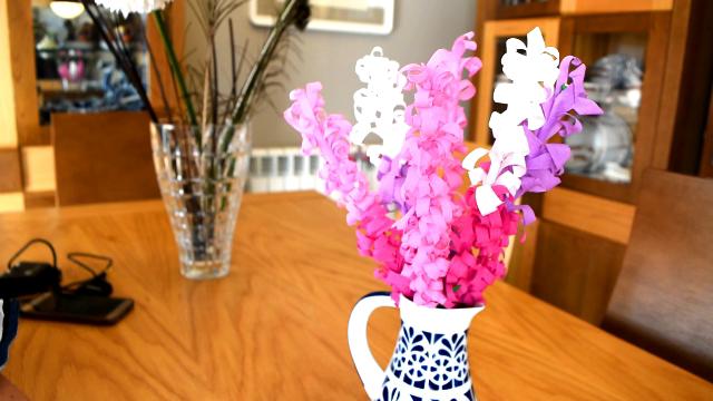 Cómo hacer jacintos flores con papel Pinocho