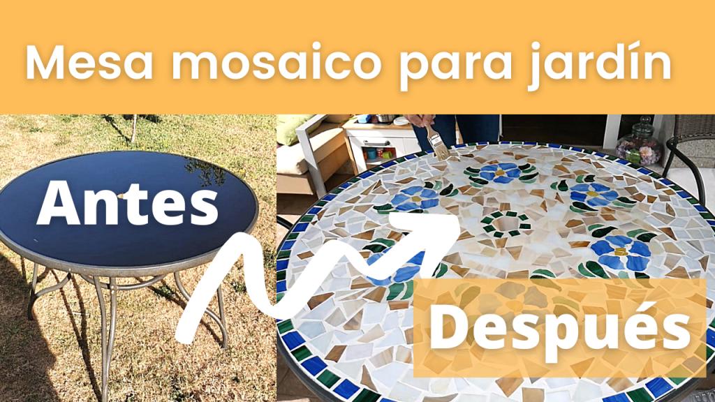 Cómo hacer mesa de mosaico